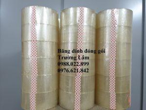 Băng dính đóng gói OPP trắng trong công ty Trường Lâm